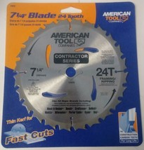 "American Tool 15630 7-1/4"" x 24T Framing / Ripping Carbide Saw Blade - $4.46"