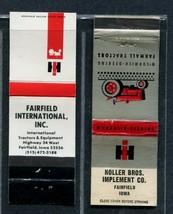 (2) Fairfield Iowa International Harvester Dealer Matchbook covers - Nol... - $8.10