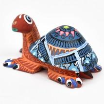 Handmade Alebrijes Oaxacan Copal Wood Carving Painted Folk Art Turtle Figurine image 2