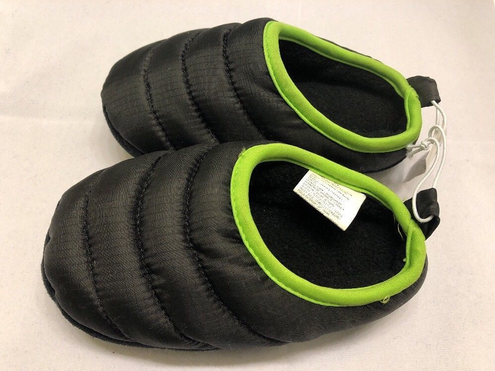 Size 10-11 Shoe BNWT Boys Navy Blue /& White Striped Slipper Boots