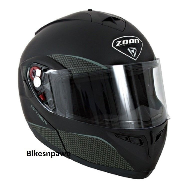 New S Zoan Optimus Matte Black Modular Motorcycle Helmet 038-034