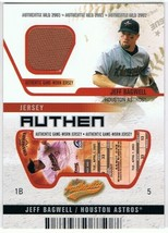 Jeff Bagwell Houston Astros 2003 Fleer Authentix Game Used Jersey UNRIPPED /50 - $14.95