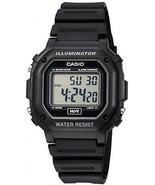 Casio Men's F108WH Illuminator Collection Black Resin Strap Digital Watch - £30.48 GBP