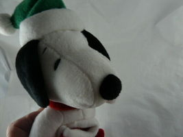 "Hallmark Christmas Snoopy Lovey 9"" Soft Plush Doll with hat and stocking  image 5"