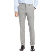 Nordstrom Mens Gray Trim Fit Pleated Wool Dress Pants Size 42 W Unhemmed - $39.88