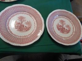 Great Vintage TWO SOUP BOWLS by W.ADAMS & Co. England MAZARA Pattern - $15.65