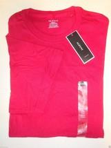 NEW MACY'S ALFANI MEN'S CREW NECK SHORT SLEEVE T-SHIRT RED SMALL - $7.91