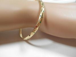 NEW Etoile Gold 14K Yellow Gold Slides Open Bangle Bracelet - $484.99