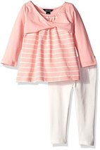Nautica Baby Knit Top and Legging, Pink, 24 Months