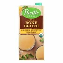 Pacific Natural Foods Bone Broth - Chicken - Case Of 12 - 32 Fl Oz. - $101.96