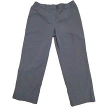 AK Anne Klein Womens Gray Pinstriped Dress Suit Career Pants Sz 14 - $4.95