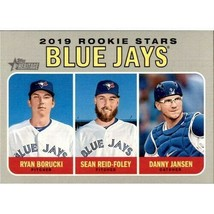 MLB 2019 Topps Heritage #376 Ryan Borucki RC Danny Jansen RC Sean Reid-Foley RC - $1.35