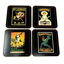 Pottery Barn Vintage Collection Coasters Set of 4 Wine Vermouth  - $12.30