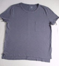 Old Navy Women Top S Gray Solid Short Sleeves Cotton 1798 - $6.33
