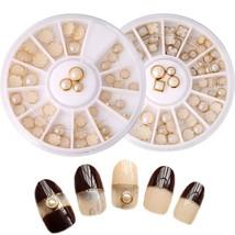 Women Nail Rhinestones Art Tips Manicure Decor Square Round AB Beads Bei... - $4.80
