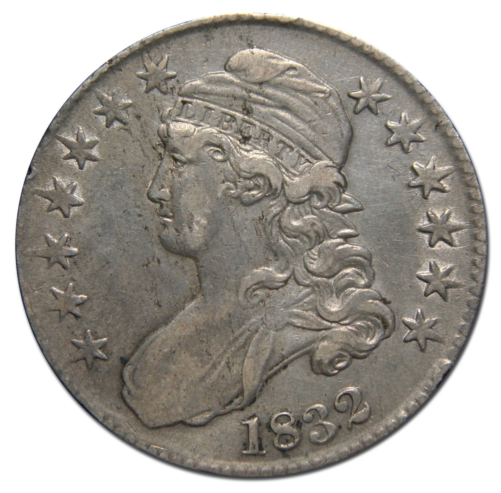 1832 Capped Bust Half Dollar 50¢ Coin Lot# MZ 3106