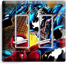 Spider Man Vs Venom Superhero Double Gfci Light Switch Wall Plate Boy Room Decor - $11.69