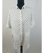 Lumiere women S blouse short sleeve w/pockets heart print - $24.75