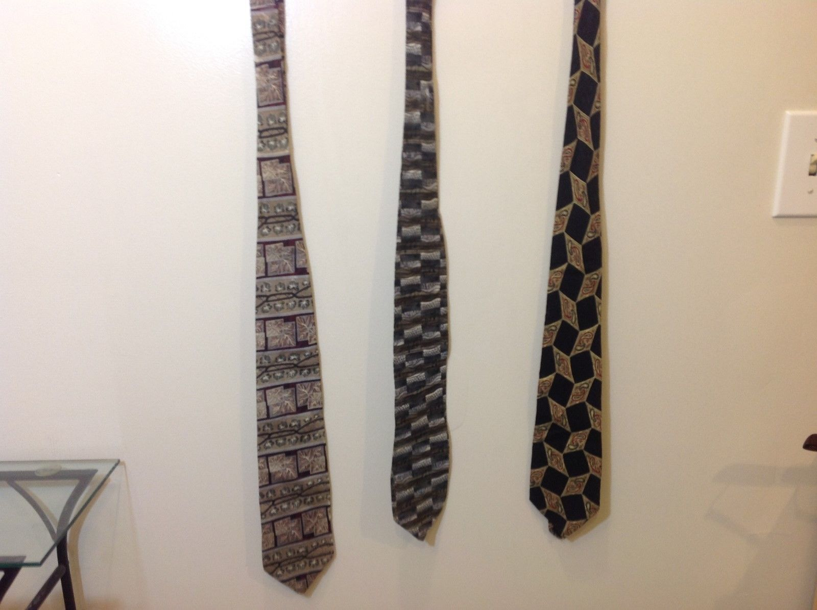 Bundle of 3 100% Silk Used Ties Great Condition