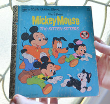 vintage A Little Golden Book Mickie Mouse Children's Book 1977 Kitten Si... - £3.77 GBP