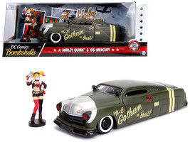 "1951 MERCURY W/ HARLEY QUINN DIECAST FIGURE ""DC COMICS"" 1/24 MODEL BY JA... - $39.95"