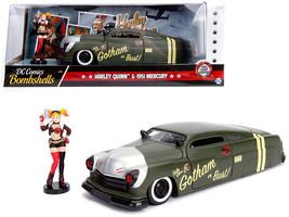 "1951 Mercury W/ Harley Quinn Diecast Figure ""Dc Comics"" 1/24 Model By Jada 30456 - $39.95"