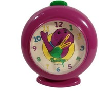 Barney The Dinosaur Working Alarm Clock Purple Vintage - $37.39