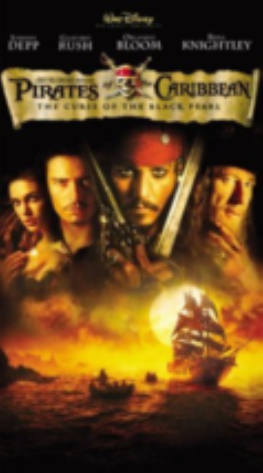 Pirates of the Caribbean - The Curse of the Black Pearl Vhs