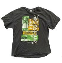 Vintage Carnival Cruise Ships Tee Shirt Jamaica Black Mens Large - $24.74