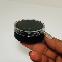 200 Black Cosmetic Jars 20 Gram Empty Beauty Makeup Containers Clear Lid... - $155.95