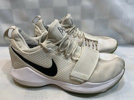 NIKE PG 1 Checkmate Shoes Men's Size 8 White Black 878627-100 - $23.75