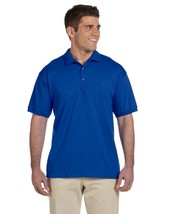 Polo Shirt Royal Blue Gildan Ultra 100% Cotton Pique L Short Sleeve Men's New - $15.49