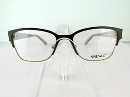 Nine West NW 1075 (210) Chocolate / Gold 49-16-135 PETITE FIT Eyeglass F... - $84.10