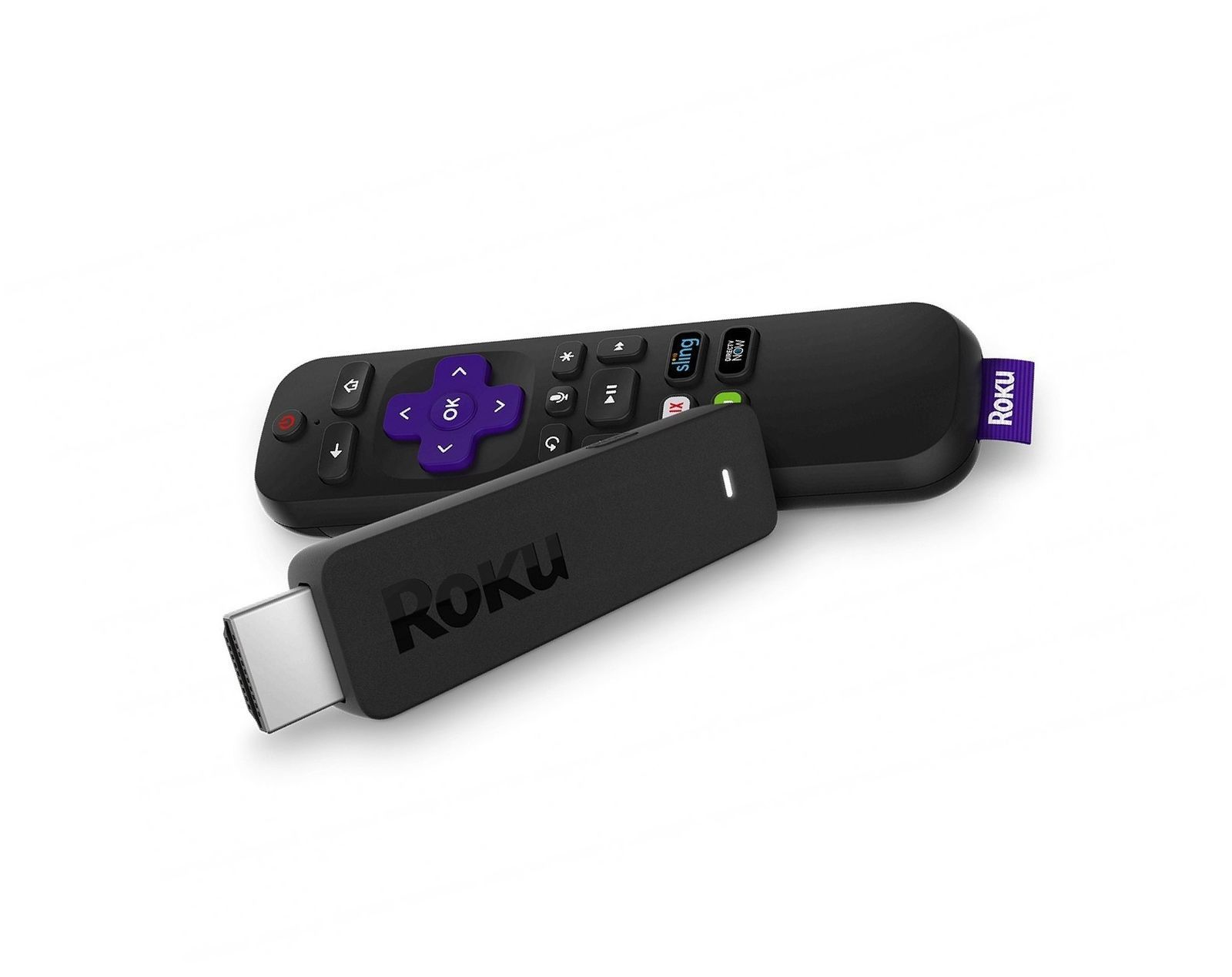 Roku Streaming Stick | Portable, power-packed player with voice remote with T...