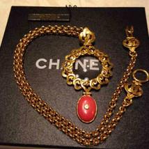 Auth Chanel Chapado en Oro cc Logos Vintage Charm Lupa Colgante Collar CN0038 - $1,216.15