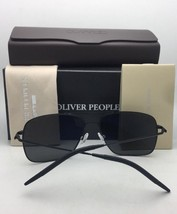 New Oliver Peoples Sunglasses Nickol Ov 1214-S 5271Y5 Black & Gold w/Gold Mirror - $339.95