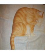 RARE Vtg 1991 YOUNG CONCEPTS Corner Cat Sculpture~ARTIST SIGNED~J. SAMPLE - $17.82