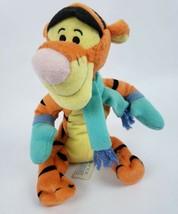 "Disney Winnie the Pooh Tigger 9"" Plush Tiger Scarf Mittens Mattel Star Bean - $10.04"