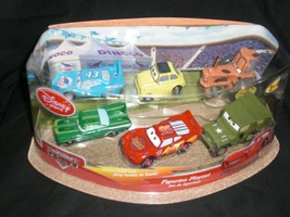Disney Store World Of Cars Figurine Playset 6 Pieces + Foldout Play Scene New - $37.99