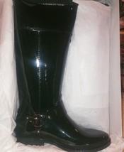 **NEW** MICHAEL KORS FULTON HARNESS  RUBBER RAIN BOOTS Hunter Grn Sz 10 ... - $47.99
