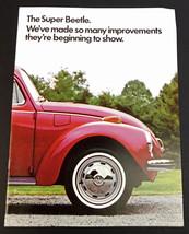 Super VW Beetle Volkswagen Car Brochure & Colors Charts Convertible Sunr... - $16.78