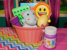 """18"""" Doll Easter Basket Gray Hippo Pink fits Our Generation & American Girl Lot - $14.84"""