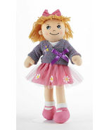 "Adorable Apple Dumplin' Cloth 14"" Doll by Delton - Purple Wrap Doll - €24,46 EUR"