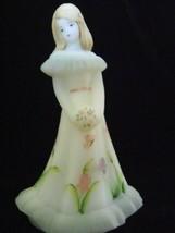 Fenton Art Glass Exclusive Miss Savannah Bridesmaid Doll Figurine White ... - $135.44