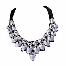 [White Drops] Women Acrylic Choker Necklace False Collar Removable Fake ... - $14.72
