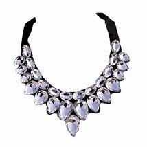 [White Drops] Women Acrylic Choker Necklace False Collar Removable Fake ... - $275,90 MXN