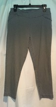 Versona Contemporary Black White Bi Stretch Flat Crop Front Pant EUC Siz... - $24.95