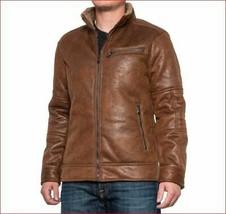 new BUFFALO David Bitton men jacket coat B627094 coat brown sz L - $93.53