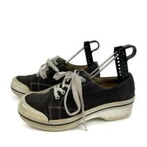Dansko Vegan Lace Up Clogs Women's 37 (6.5-7) Black/White Sneaker Style Comfort - $39.57