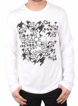 Versace Jeans Men's Logo Mix Giada L/S White Tee NWT